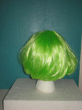 NEW Neon Green Short Bob Hair Style Wig, One Size, Fairy, Elf, Cos Play, Costume