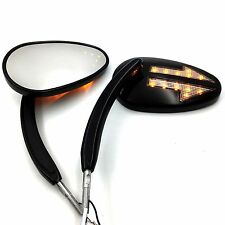 LED Turn Signal Mirror For Harley Dyna Super Glide FXD Custom FXDC Street Bob