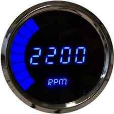 "Intellitronix Digital/Bargraph Memory Tachometer 3 3/8"" Blue LEDs Chrome Bezel"