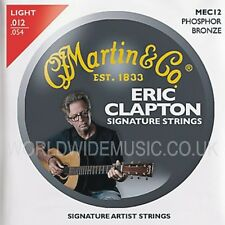 MARTIN mec12 CLAPTON'S CHOICE le corde per Chitarra Acustica Light Gauge 012 - 054
