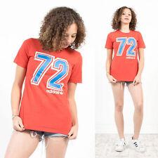 Rétro ADIDAS AMERICAN football numéro taille à encolure ras-du-cou à manches courtes t-shirt 8