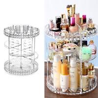 Acrylic Cosmetic Makeup Organizer Storage Box Shelf 360 Rotating Display Stand