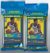 Lot of 2 Sealed Cello packs of 2017/2018 Donruss Optic Basketball 15 cards in ea