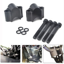 "Handlebar Riser Kit 7/8"" Bar 30mm Motorcycle for ATV Dirt Bike Black Off-Road"