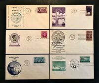US FDC Set of 12 1935-1949 First Day Cachet Cover Collection Free Ship