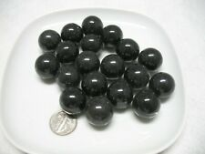 18 Pure Black Glass Marbles 25 mm Toy, Game, Fish Tank Vase Filler Decoration