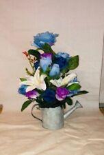 ROUND VINTAGE IN METALLO ZINCATO CANNA fioriere vasca per Piante Vaso di fiori da giardino