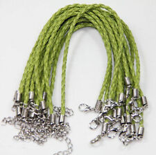 Lots 10pcs Braid Man Made Faux Leather Cord For Charms Bracelets Jewelry Making