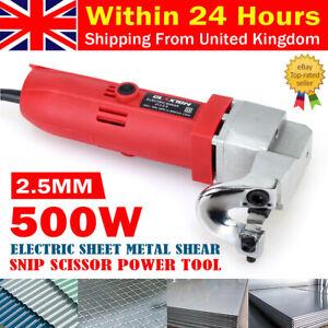 500W 2.5mm Capacity Electric Nibbler Cut Sheet Metal Corded Shear Snip Cutter