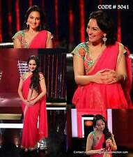 Sonakshi Sinha in Red Saree/Sari at Koffe with Karan-Bollywood Replica Designer