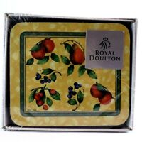 Vintage ORCHARD Royal Doulton 6 Coasters SOUS VERRES 2002 Boxed NEW