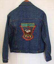 Taz Harley Davidson Denim Jacket Looney Tunes Warner Bros Tazmanian Size Medium