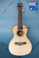 24 Inch Solid spruce Ukulele with Abalone Shell Inlay Matt Finish P-1