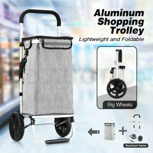 Aluminium Shopping Trolley Cart Foldable Market Grocery Storage Insulation Bag