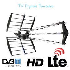 ANTENNA TV DIGITALE TERRESTRE UHF ESTERNA DVB-T HD RADIO TELEVISIONE 43 ELEMENTI