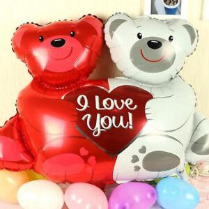 36*37CM I LOVE YOU HUG BEAR Foil Balloons Wedding Party Romantic Surprise Decor