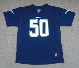 Small Mens Fit San Diego Chargers Te'o NFL American Football Jersey