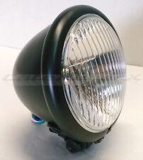 "Motorcycle Bates Style 4-1/2"" Black Bottom Mount Headlight Spot Light Custom"