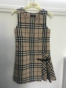 Girls Burberry Dress Age 6 Suit Age 4 100% Genuine