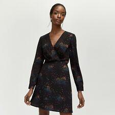 BNWT WAREHOUSE BLACK CLOUD 9 FIT & FLARE DRESS SIZE UK 12