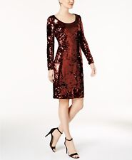 Calvin Klein Sequined Sheath Dress MSRP $199 Size 16 # 1A 380 NEW