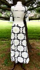 NEW Free People ivory black green Mod Flower Stretch Backless Maxi Dress XS