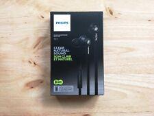Genuine Philips TX1 In-Ear Natural Sound Headphones Earphones with Mic (Black)