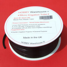 More details for micro irrigation tube black 4mm flexible pvc garden watering by hobby warehouse