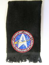 Starfleet Command fingertip towel FREE SHIP Star Trek black United Federation