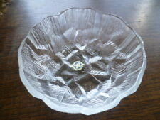 Vintage Retro Hoya Crystal Glass Bowl Shaved Ice MC Escher Stairs Design - Label