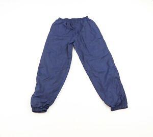 Vintage 90s Wilson Mens Size Small Lined Nylon Joggers Jogger Pants Navy Blue