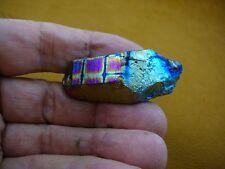 (R1-69) iridescent Aurora Crystal quartz titanium GEM gemstone Aura specimen