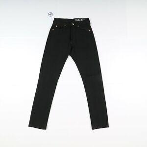Levi's 501 Customized Utilisé (Cod.J1011) W28 L32 Shrunk Noir Taille Haute Femme