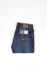 30870 Nudie Jeans Slim Jim Licht Dunkelheit Blau Herren Jeans IN Größe 33/32