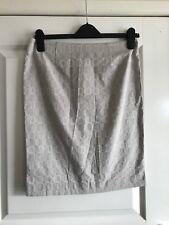 Ladies Beige Retro Pattern Knee Length Straight Skirt - Guido Lombardi - Small