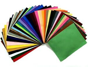"""Felt Craft Squares 9""""x12"""" Choose Qty from 41 washable Acrylic colors Aus Seller"""