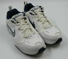Mens Nike Air Monarch Mens White Silver Swoosh Walking Sneakers Shoes Size 12M