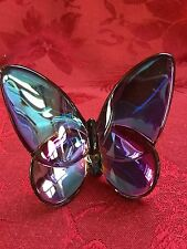 FLAWLESS Exquisite BACCARAT Blue SCARABEE Crystal Papillon LUCKY BUTTERFLY