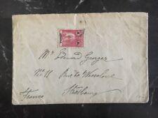 1920s Luanda Angola Cover to Strasbourg France 1 Escu Stamp