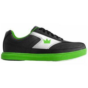 Brunswick Renegade Black/Neon Green Youth Boys Bowling Shoes