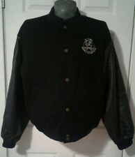 """NY Yankees """"25 Time World Champions"""" Black Wool and Leather Bomber Jacket XL"""