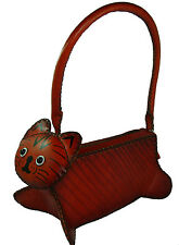 A Lovely Kitty Shape, Genuine Leather Handbag, Unique design and Well Hand-Made