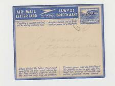 SOUTH WEST AFRICA 1948 3d AIRMAIL LETTER CARD TO EAST LONDON (SEE BELOW)