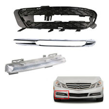 Set Fog Light Lamp + Grille & Trim For Mercedes Benz W212 E350 Right RH Bumper