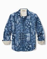TOMMY BAHAMA Pina Shibori Hawaiian Size M Long Sleeve Linen Shirt BNWT NWT