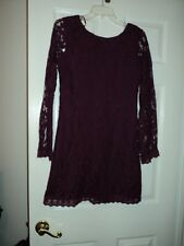 BEAUTIFUL Maroon  lace DRESS BY LOVE FIRE  SIZE M  JUNIOR