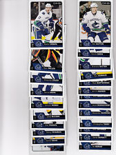 16/17 OPC Vancouver Canucks Team Set w/RCs and Inserts - Sedin Friesen RC +