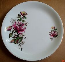 Alfred Meakin Glo White Ironstone Large Side Or Salad Plate Rose Design
