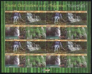 Philippines – 2014 Waterfalls Tourist Destinations, Miniature Sheet/16, MNH, OG