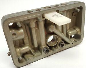 Holley high perf 4 barrel carburetor metering plate with accelerator pump port